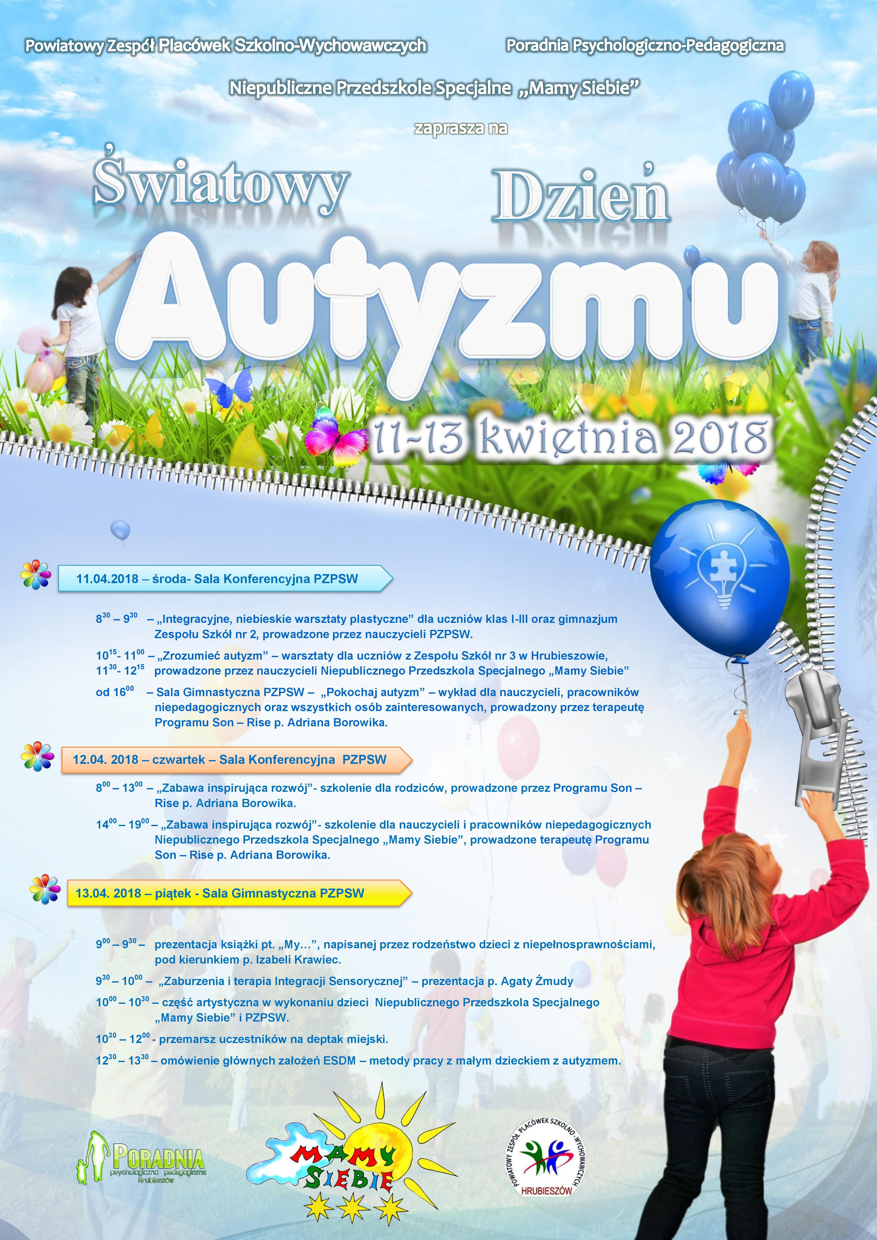 17/18 – Program obchodów Światowego Dnia Świadomości Autyzmu